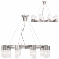 Livex 50699-91 Midtown  Contemporary Brushed Nickel Ceiling Chandelier