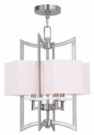 Livex 50703-91 Woodland Park  Contemporary Brushed Nickel Foyer Lighting