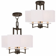 Livex 50704-67 Woodland Park  Modern Olde Bronze Mini Chandelier Light / Ceiling Lighting Fixture