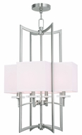 Livex 50707-91 Woodland Park  Contemporary Brushed Nickel Foyer Lighting Fixture