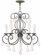 Livex 50765-92 Donatella English Bronze Chandelier Light