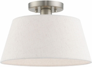 Livex 50802-91 Belclaire Brushed Nickel Flush Lighting