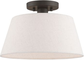 Livex 50802-92 Belclaire English Bronze Flush Mount Lighting