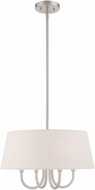 Livex 50804-91 Belclaire Brushed Nickel 18  Drum Pendant Light