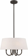 Livex 50804-92 Belclaire English Bronze 18  Drum Lighting Pendant