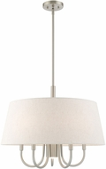 Livex 50805-91 Belclaire Brushed Nickel 24  Drum Pendant Lamp