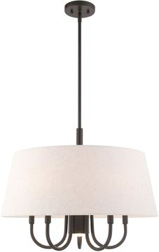 Livex 50805-92 Belclaire English Bronze 24  Drum Hanging Lamp