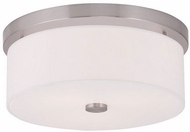 Livex 50863-91 Meridian Brushed Nickel Flush Lighting
