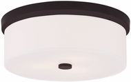 Livex 50864-07 Meridian Bronze Flush Mount Lighting