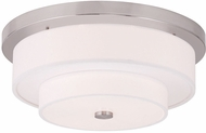 Livex 50865-91 Meridian Brushed Nickel Flush Mount Lighting Fixture