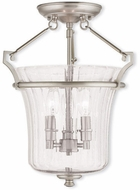 Livex 50923-91 Cortland Contemporary Brushed Nickel Flush Mount Lighting Fixture