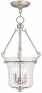 Livex 50924-91 Cortland Contemporary Brushed Nickel Foyer Lighting Fixture