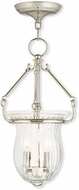 Livex 50942-35 Andover Contemporary Polished Nickel Entryway Light Fixture