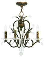 Livex 51004-71 Serafina Hand Applied Venetian Golden Bronze Mini Chandelier Light