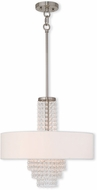 Livex 51033-91 Carlisle Brushed Nickel 18  Drum Drop Ceiling Lighting