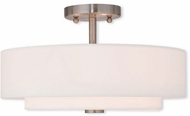Livex 51044-91 Claremont Contemporary Brushed Nickel Ceiling Light