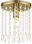 Livex 51066-01 Elizabeth Antique Brass 8  Flush Mount Ceiling Light Fixture