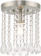 Livex 51066-91 Elizabeth Brushed Nickel 8  Overhead Lighting