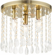 Livex 51067-01 Elizabeth Antique Brass 11  Overhead Light Fixture