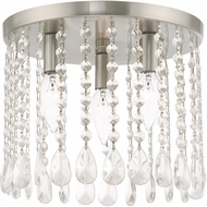 Livex 51067-91 Elizabeth Brushed Nickel 11  Flush Mount Light Fixture