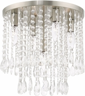 Livex 51068-91 Elizabeth Brushed Nickel 14  Flush Mount Lighting Fixture