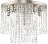 Livex 51069-91 Elizabeth Brushed Nickel 18  Flush Ceiling Light Fixture