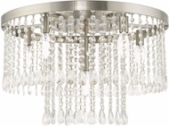 Livex 51070-91 Elizabeth Brushed Nickel 22  Flush Mount Ceiling Light Fixture