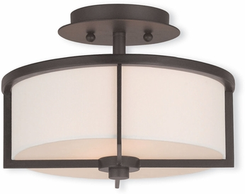 Livex 51072-07 Wesley Bronze 11  Ceiling Light Fixture