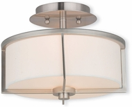 Livex 51072-91 Wesley Brushed Nickel 11  Flush Lighting