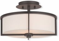 Livex 51073-07 Wesley Bronze 13  Flush Mount Lighting
