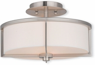 Livex 51073-91 Wesley Brushed Nickel 13  Overhead Lighting
