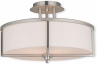 Livex 51074-91 Wesley Brushed Nickel 16  Flush Mount Lighting Fixture