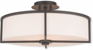 Livex 51075-07 Wesley Bronze 19  Flush Ceiling Light Fixture