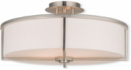 Livex 51075-91 Wesley Brushed Nickel 19  Flush Mount Ceiling Light Fixture