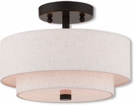 Livex 51082-92 Claremont English Bronze Overhead Lighting