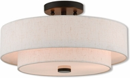 Livex 51084-92 Claremont English Bronze Flush Mount Lighting Fixture