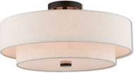 Livex 51085-92 Claremont English Bronze Flush Ceiling Light Fixture