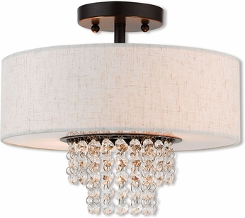 Livex 51095-92 Carlisle English Bronze 13  Home Ceiling Lighting