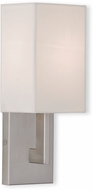 Livex 51101-91 Hollborn Contemporary Brushed Nickel Lighting Sconce