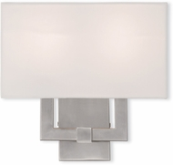 Livex 51103-91 Hollborn Contemporary Brushed Nickel Wall Sconce Lighting