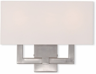 Livex 51104-91 Hollborn Modern Brushed Nickel Wall Light Fixture