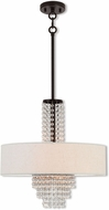 Livex 51113-92 Carlisle English Bronze 18  Drum Drop Ceiling Lighting