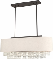 Livex 51123-92 Carlisle English Bronze 31  Kitchen Island Lighting