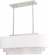 Livex 51124-91 Carlisle Brushed Nickel 31  Kitchen Island Light