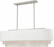 Livex 51126-91 Carlisle Brushed Nickel 41  Kitchen Island Light Fixture