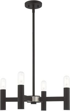 Livex 51134-04 Copenhagen Modern Black Mini Chandelier Lighting