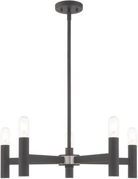 Livex 51135-76 Copenhagen Modern Scandinavian Gray Chandelier Light