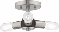 Livex 51137-91 Copenhagen Contemporary Brushed Nickel Overhead Lighting Fixture