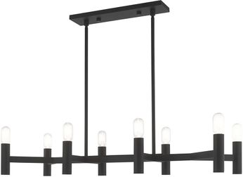 Livex 51138-04 Copenhagen Modern Black Island Lighting