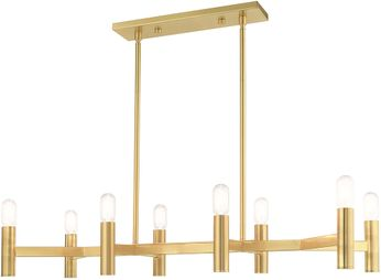 Livex 51138-12 Copenhagen Contemporary Satin Brass Kitchen Island Lighting